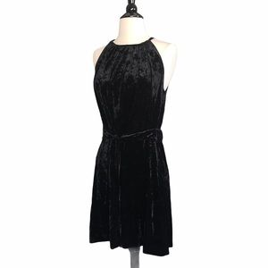 Lysse Willa Crushed Velvet Black Mini Dress